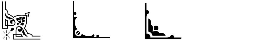 Click to view  LHF Saratoga Ornaments font, character set and sample text