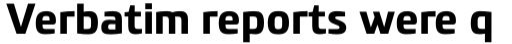 PF Benchmark Pro Bold sample