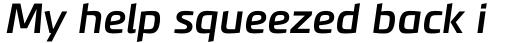 PF Benchmark Pro Medium Italic sample