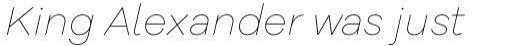 Galano Grotesque Alt Thin Italic sample