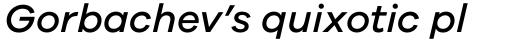 Galano Grotesque Medium Italic sample