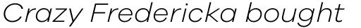 Galano Grotesque Light Italic sample