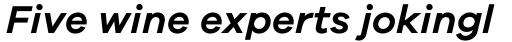 Galano Grotesque Semi Bold Italic sample