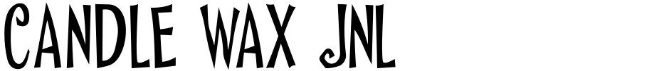 Click to view  Candle Wax JNL font, character set and sample text