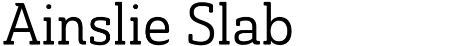 Click to view  Ainslie Slab font, character set and sample text