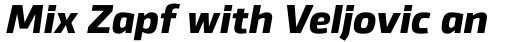 Byker ExtraBold Italic sample