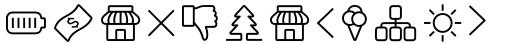 Panton Icons D Regular sample