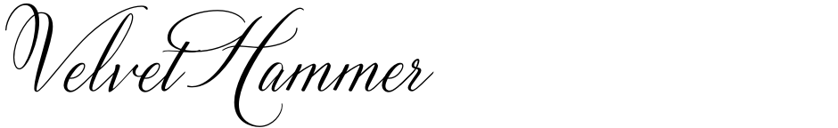 Click to view  Velvet Hammer font, character set and sample text