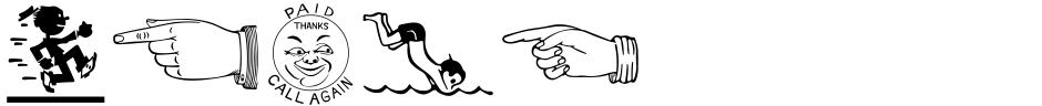 Click to view  Printers Helpmates JNL font, character set and sample text