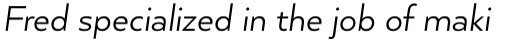 Arquitecta Standard Book Italic sample
