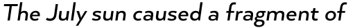 Arquitecta Standard Medium Italic sample