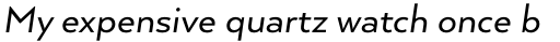 Arquitecta Standard Italic sample