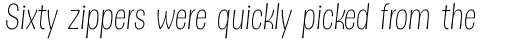 Dsert ExtraLight Italic sample