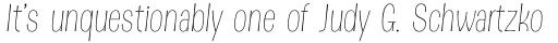 Dsert Thin Italic sample