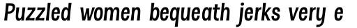 Dsert Alt Bold Italic sample