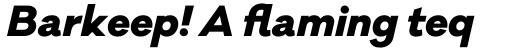 Galano Classic Alt Extra Bold Italic sample