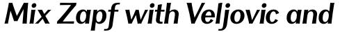 Clasica Sans Bold Italic sample