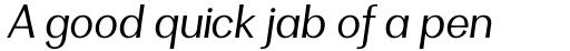 Clasica Sans Book Italic sample
