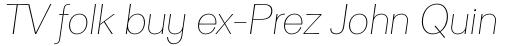 Clasica Sans Thin Italic sample