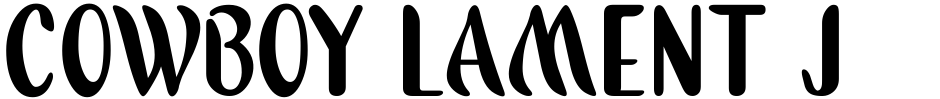 Click to view  Cowboy Lament JNL font, character set and sample text