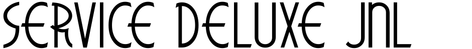 Click to view  Service Deluxe JNL font, character set and sample text