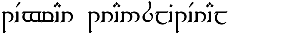 Click to view  Tengwar Transliteral font, character set and sample text