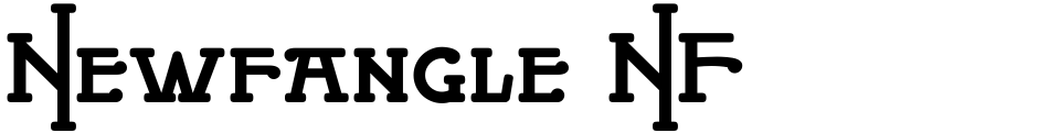 Click to view  Newfangle NF font, character set and sample text