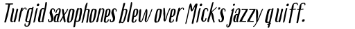 Boho Sans Bold Italic sample