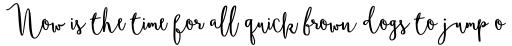Boho Script Bold sample
