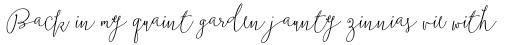Boho Script Drop Italic sample