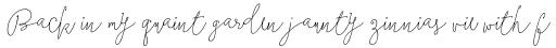 Boho Script Line Drop Italic sample