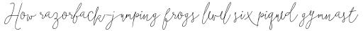 Boho Script Line Italic sample
