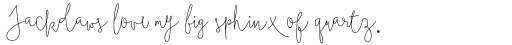 Boho Script Line sample