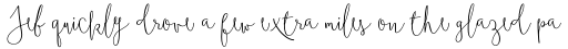 Boho Script sample