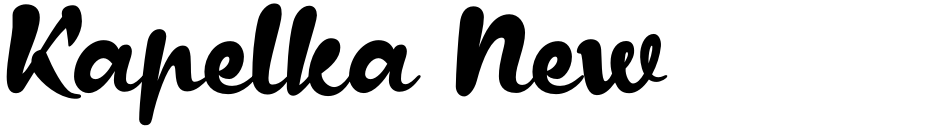 Click to view  Kapelka New font, character set and sample text