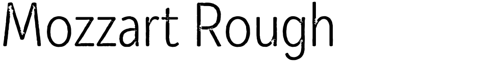 Click to view  Mozzart Rough font, character set and sample text
