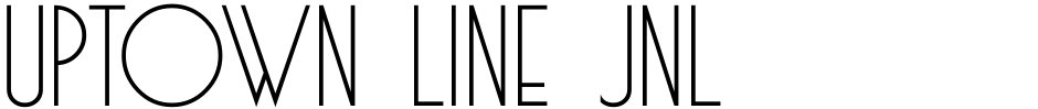 Click to view  Uptown Line JNL font, character set and sample text