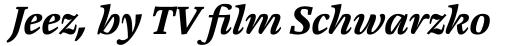 Cardamon Pro Bold Italic sample