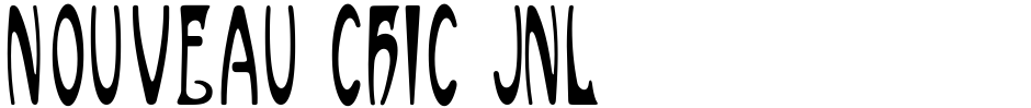 Click to view  Nouveau Chic JNL font, character set and sample text
