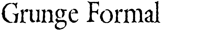 Click to view  Grunge Formal font, character set and sample text