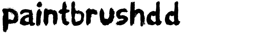 Click to view  paintbrushdd font, character set and sample text