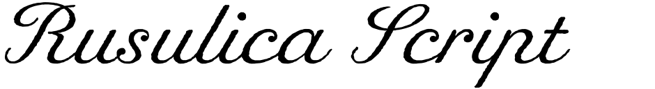 Click to view  Rusulica Script Antique font, character set and sample text