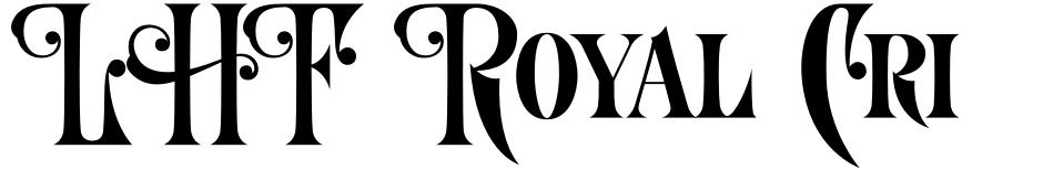 Click to view  LHF Royal Crimson font, character set and sample text