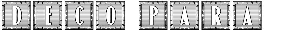 Click to view  Deco Paragraph Initials JNL font, character set and sample text