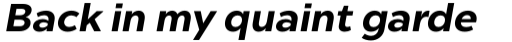 Chronica Pro Bold Italic sample