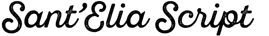 Click to view  Sant'Elia Script font, character set and sample text