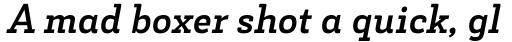 Decour Bold Italic sample