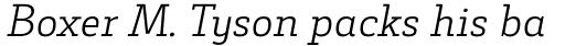Decour Light Italic sample