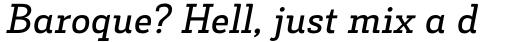 Decour Semibold Italic sample