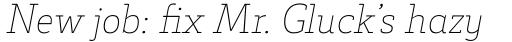 Decour Thin Italic sample